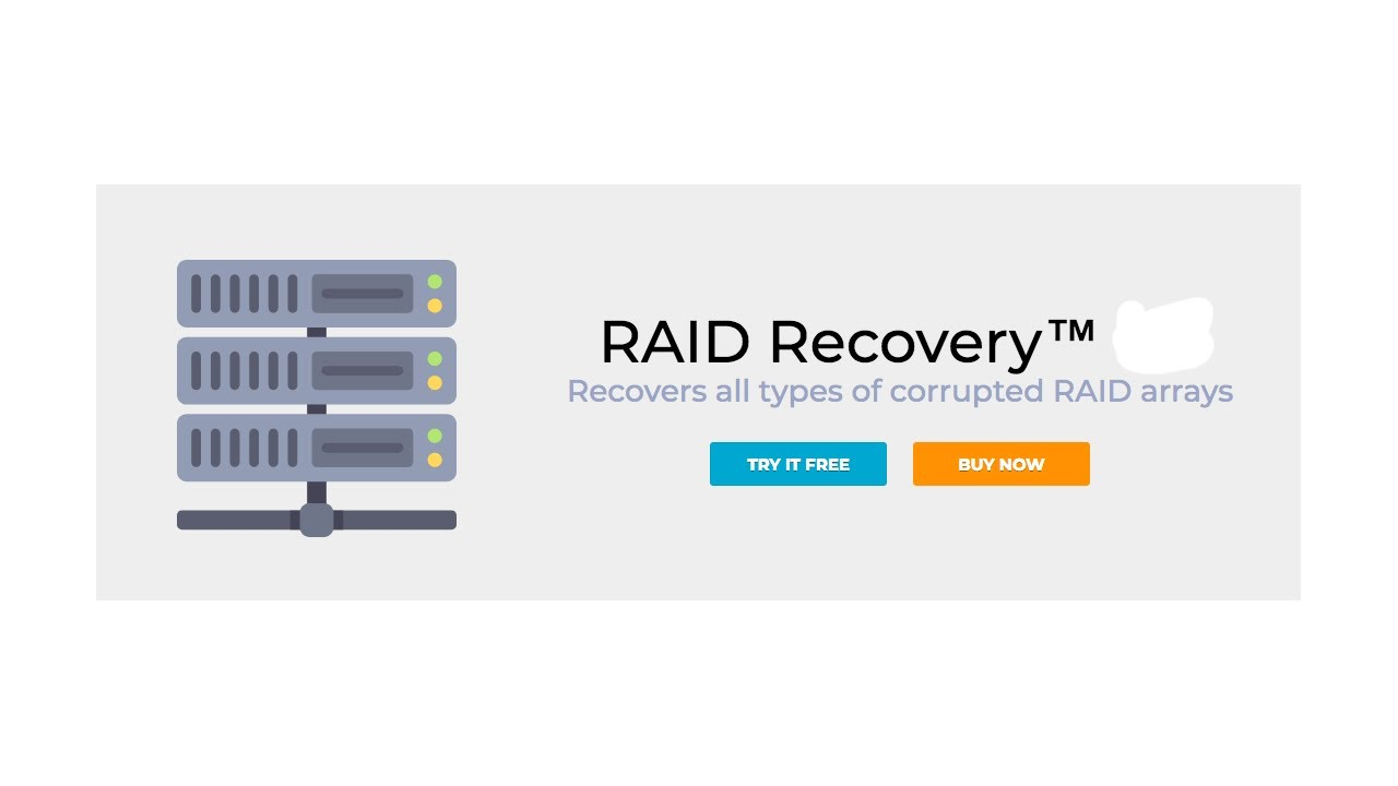 Recover RAID data from all types of corrupted RAID arrays