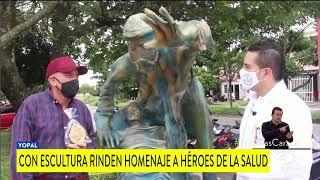 ESCULTOR EN YOPAL, RINDE HOMENAJE A HÉROES DE LA SALUD