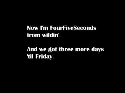 , title : 'Rihanna - Four Five Seconds ft. Kanye West & Paul McCartnery [LYRICS]'