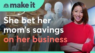 She borrowed her mom's savings to build a multimillion-dollar fashion empire | Make It International