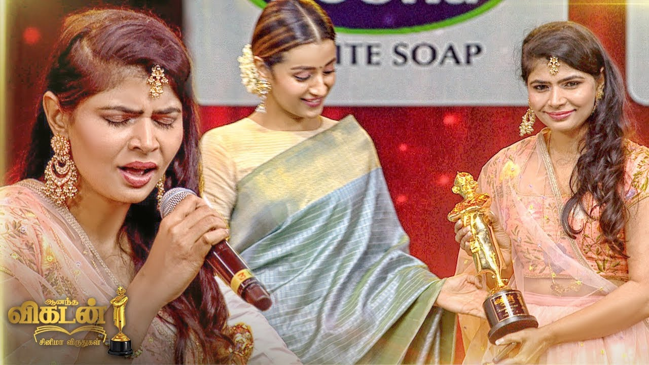 FIRST TIME in my LIFE - Chinmayi SURPRISED | Kaadhale Kaadhale 96 |Ananda Vikatan Cinema Awards 2018