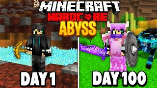 I Survived 100 Days in the Abyss on Minecraft.. Here's What Happened..