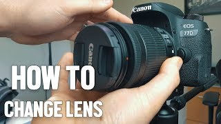 Canon DSLR Guide - How to Change Your Camera Lens 📷