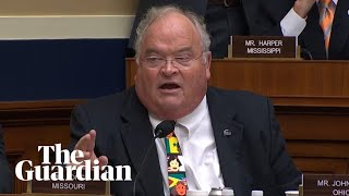 Congressman breaks into auction chant to drown out conservative activist at Twitter hearing