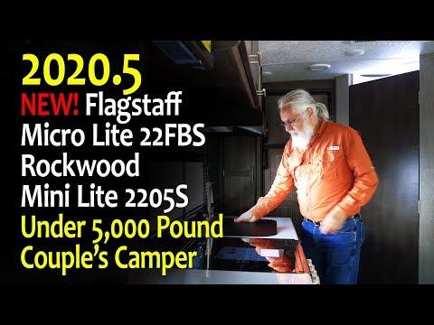 NEW MODEL: 2020.5 Flagstaff Micro Lite 22FBS/Rockwood Mini Lite 2205S Travel Trailer - 4k UHD