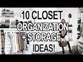 10 SMALL CLOSET ORGANIZATION + STORAGE IDEAS!