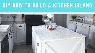 DIY How To Build A Kitchen Island   Easy Island With Seating & Storage!