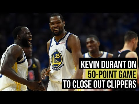 87ba46bddb6 NBA playoffs  Kevin Durant on his 50-point game to close out Clippers