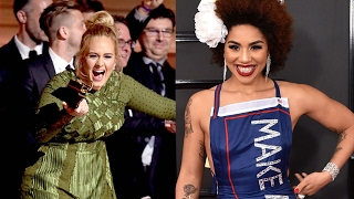 Gambar cover Joy Villa And The Make America Great Again Dress, Adele Virtue Signals Beyonce; Grammys REACTION