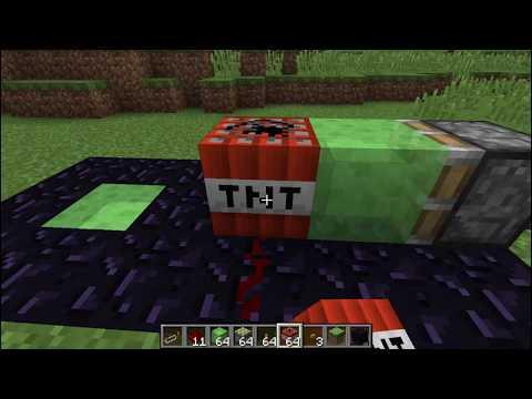 Minecraft Piston TNT Cannon