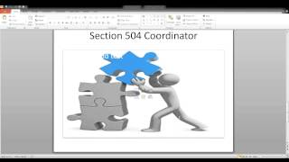 Section 504:  Role of the Section 504 Coordinator
