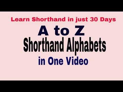 Shorthand Alphabets || Gregg Shorthand || Complete list of Shorthand alphabets || Vowels