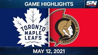 NHL Game Highlights   Maple Leafs vs. Senators - May 12, 2021