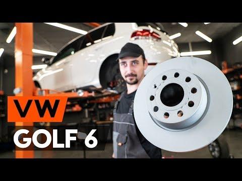 Wie VW GOLF 6 (5K1) Bremsscheiben hinten wechseln [TUTORIAL AUTODOC]