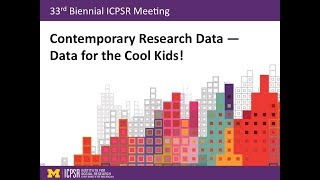 Contemporary Research Data — Data for the Cool Kids!