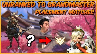 🔴Overwatch Unranked to GM! Rank #1 NA Peak 4646 SR! Hanzo Smurfing Maybe? !member