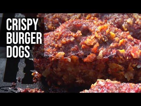 Crispy Stuffed Sausage Burger Hot Dogs