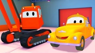 Tom the Tow Truck with the Demolition Crane and their friends in Car City