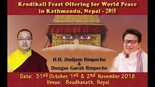Krodikali Feast Offering For World Peace In Kathmandu, Nepal 2018