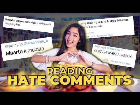 [Andrea B]  READING HATE COMMENTS!!!!    Andrea Brillantes