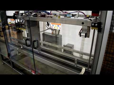 Selladora Selladora Hot Melt TBS300 para sellado superior y para cajas tipo Beverage Fold