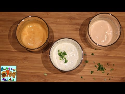 3 Easy DIY Dipping Sauces