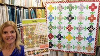 TRELLIS Pattern -  A Flowers And Vines Quilt Thats So Fine!