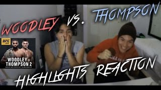 WOODLEY VS THOMPSON 2 FIGHT HIGHLIGHTS (REACTION)