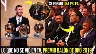 ASÍ FUE LA GALA DEL BALÓN DE ORO 2019, LO QUE NO SE VIÓ EN TV, SE FORMÓ UNA P3L3A AL FINAL