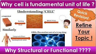 why cell is called structural and functional unit of life| Class 9 Science Chapter 5 | Vertika Goyal