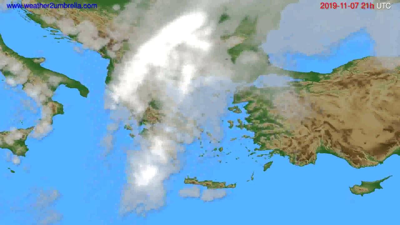 Cloud forecast Greece // modelrun: 00h UTC 2019-11-06