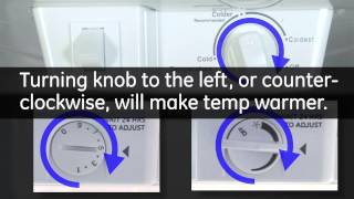 Temperature Controls - Top Mount Refrigerators