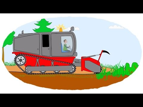 Zeichentrick-Malbuch - Die ungewöhnlichen Traktoren. Teil 2.