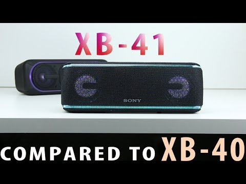 Sony SRS XB41 Review & VS XB40 Sound Battle