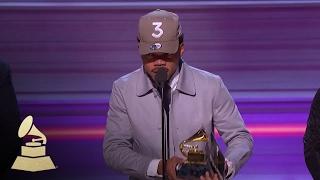 Chance The Rapper Wins Best Rap Album   Acceptance Speech   59th GRAMMYs