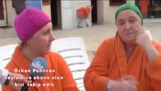aşk engel sinir tanimiyor   teaches at the hot springs pool swimming wife.