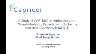 Capricor's HOPE-2 Final 12-Month Data (June 3, 2020)