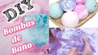 DIY Bombas De Baño DIVERTIDAS Y Faciles De Hacer! / Bath Bombs