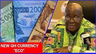 Break..Akuffo Addo agrees to change Ghana's Currency from CEDI to ECO..