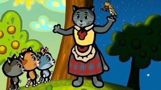 Развивающие и обучающие мультфильмы - День и ночь: Три котенка - теремок тв: песенки для детей