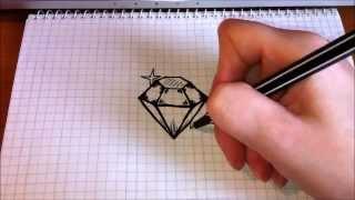 Смотреть онлайн Как поэтапно нарисовать бриллиант