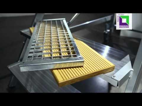 Günzburger Podestleiter fahrbar Aluminium geriffelt 5 Stufen-youtube_img