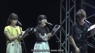Touyama Nao funny moments from Trinity Seven stage event [ENG SUB]