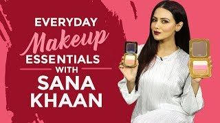 Sana Khaans Everyday Makeup Essentials | S01E05 | Whats In My Makeup Bag | Fashion | Pinkvilla