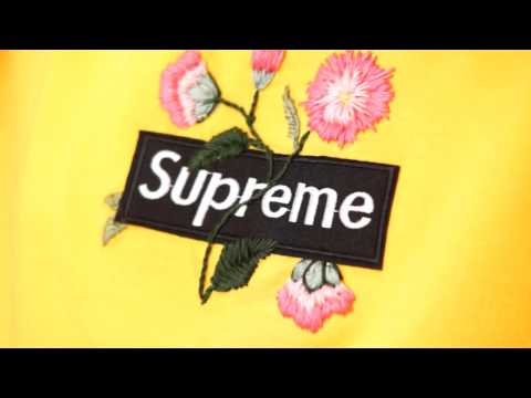DIY Supreme embroidered Hoodie   Embroidery Tutorial   dapper alien