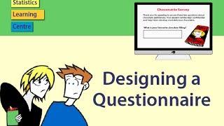 Designing a Questionnaire - statistics help