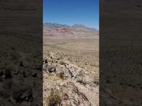 Another view from same hike, shows parts of Vegas in distance as well as the camp itself closer in.