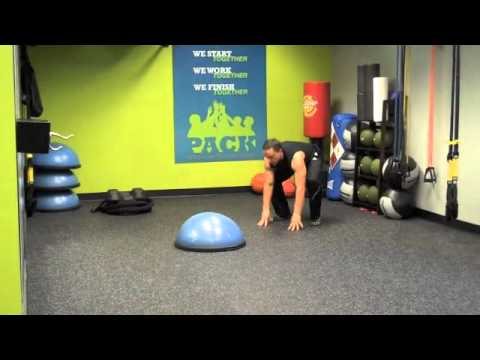 Suspension and BOSU Leap Frogs