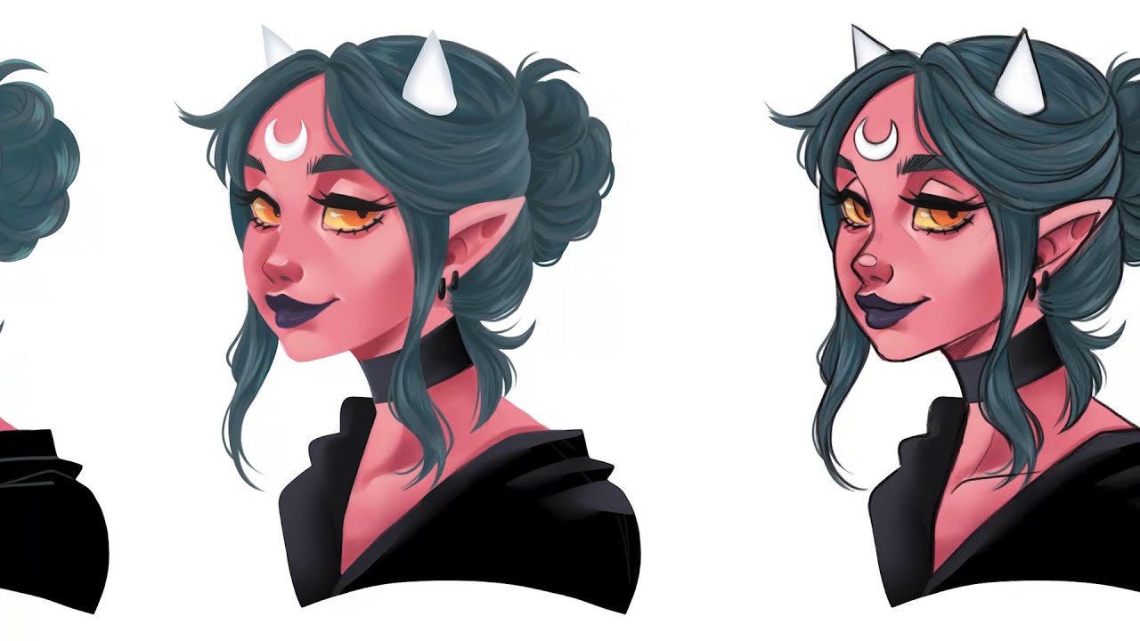 digital art tutorial how to color without lineart by nadiaxel