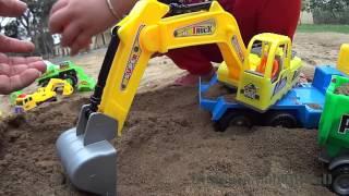 Excavator car toy Đồ chơi trẻ em Xe tải Xe máy xúc đào cát ra ô tô xe máy xúc con игрушка экскаватор